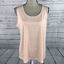Chicos Cropped Top Orange Sleeveless Basic Knit Size 3 - XL Pullover New