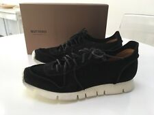 Buttero Carrera Sneakers Black Suede Made in Italy Size 45