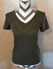 XS Arizona Jeans Women's Olive Green Tshirt Vneck Top Blouse