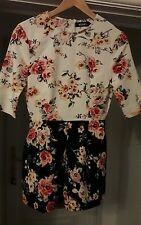 NEW WITH TAG Ladies Missguided Floral Playsuit, Size 8.