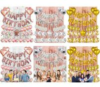 Happy Birthday Decoration Set Pretty Banners Balloons Supplies for Party Any Age