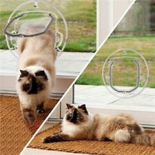 Small Door Flap Safe Lockable Cat Window Locking Round Dog Pets Security Catflap
