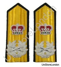 Epaulettes Navel Shoulder Boards Elastic,Strap & Press Stud Q Crown Wreath R1408