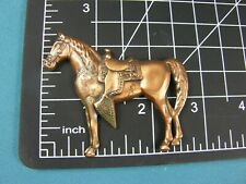 1950s Copper Western Saddle on Horse Brooch Pin