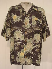 Tommy Bahama Rayon Hawaiian shirt pineapple print large