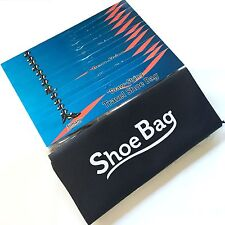 "12 Black TRAVEL SHOE BAG DRAWSTRING GOLF STORAGE NON-WOVEN FABRIC 16"" x 12"""