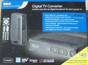 RCA DTA800B1 Digital-to-Analog TV Converter Box - NEW