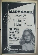 Mary Small 1951 Ad- I Like It I Like It/If I Can Love You in The Morning  King