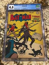 BATMAN #40 CGC 4.5 OW PAGES GOLDEN AGE SCARCE BEAUTY CLASSIC JOKER COVER INVEST