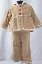 Gymboree Gingerbread Girl Outfit Set Brown Christmas Holiday Toddler 18-24 Month