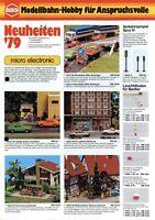 Busch Modellbahn Zubehör Prospekt 1979 Modelleisenbahn brochure model railway