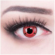Coloured Contact Lenses red black Sharingan Naruto Contacts Cosplay Halloween