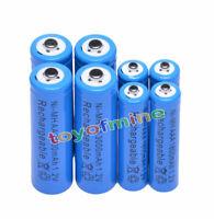 4 +4 X AA AAA rechargeable batterie1800mAh 3000mAh 1.2V Bleu pile