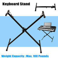 Electric Keyboard Piano X Stand Metal Rack 7-Height Adjustable For 49 61 76 Key