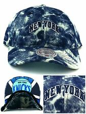 74f8b1fd9a8335 New York Knicks New Mitchell & Ness Brand Washed Denim Blue Era 47 Dad Hat  Cap