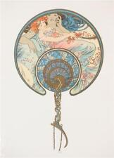 Alphonse Mucha Limited Edition Lithograph The Passing Wind Takes Youth Away