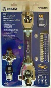 NEW Kobalt 15-pc Multi Drive Wrench Model #105129