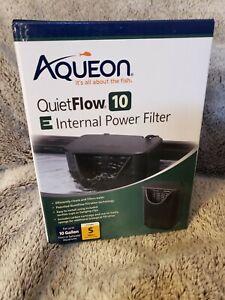 NEW Aqueon QuietFlow 10 Internal Power Filter 10 Gallon Fresh or Salt Water