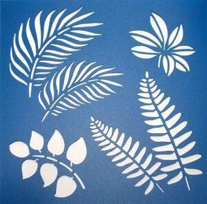 Scrapbooking - STENCILS TEMPLATES MASKS SHEET - Leaves 02 Stencil