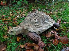 More details for life size woodlife tortoise vivid arts. outdoor/indoor, lovely design, nice gift