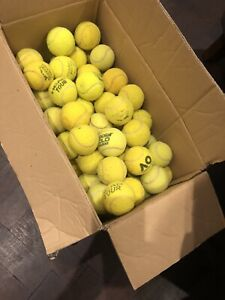 100 Used Tennis Balls - Ex Major Brands - Drills & Dogs. Delivery or collection