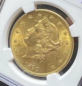 1890 CC $20 NGC AU 58