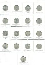EGYPT full set of 5 piaster commemorative for circulation 17 pieces x 5 PIA UNC