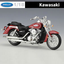 WELLY 1:18 Scale Kawasaki 2002 Vulcan 1500 Classic Motorcycle Diecast Model Toys