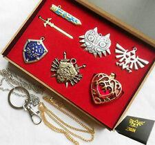 The Legend of Zelda Triforce Link Sword Shield Gift Necklace Pendant Keychain
