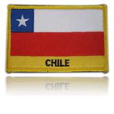 Chile Embroidered Flag patch -Iron on or Sew