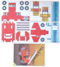 DDR Papierbastelbogen Feuerwehrauto