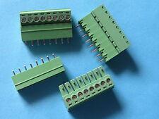 50 pcs 3.81mm 8 way/pin Screw Terminal Block Connector Green Pluggable Type New
