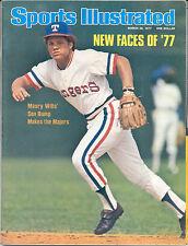 Sports Illustrated 1977 BUMP WILLS Maury Wills Texas Rangers Baseball NO LABEL