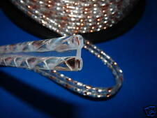 Acoustic Silver & Copper Twisted Solid Ribbon Speaker Cable.Don't Pay $40.00/m.