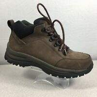 Lands End Camping Hiking Brown Leather Boots 81693 Mens Size 9 D