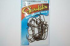 gamakatsu 3/0 offset shank worm round bend hooks 54113-25 value pack beaver tube