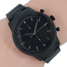Fossil Herren Uhr Chronograph Townsman FS5502 schwarz Edelstahl