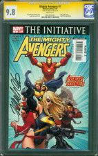 Mighty Avengers 1 CGC 9.8 SS Frank Cho Ms Marvel Classic Splash Cover