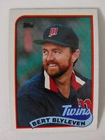 1989 Topps Bert Blyleven Minnesota Twins Wrong Back Error Baseball Card