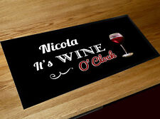 Personalised Any Name Wine O'Clock bar runner counter mat Pubs  & Cocktail Bars
