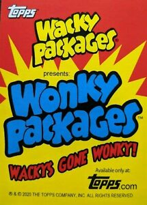 2020 Wacky Packages All New Series Weekly Wonky Packages