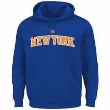 New York Knicks 4XL Majestic NBA Logo Blue Hoodie Sweatshirt Big & Tall