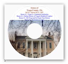 Tioga County PA History - 3 Books