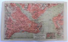 Imperial Russia Antique Map CONSTANTINOPLE