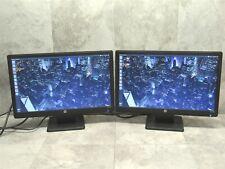 2 LOT - HP LV2011 20inch LED LCD Monitor 1600x900 HD Display w/ Stand + VGA