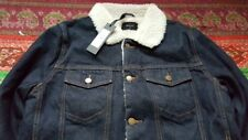 NEW ROLLA'S INDIGO SHERPA DENIM JACKET SIZE MEDIUM