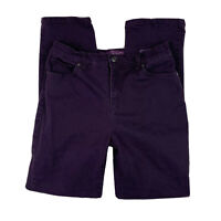 GLORIA VANDERBILT Women 6 Jeans Pants High Waisted Straight Leg Pockets Purple