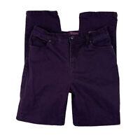 GLORIA VANDERBILT Women 6 Jeans Pants High Waisted Straight Leg Pockets Purple