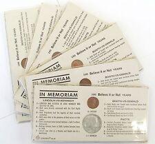 In Memoriam coins - Lincoln vs. Kennedy