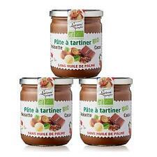 Lot de 3 Pâtes à tartiner Bio aux noisettes et cacao - 400g LUCIEN GEORGELIN